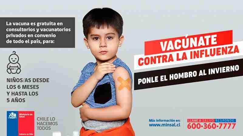 Comenzó vacunación por influenza 2019